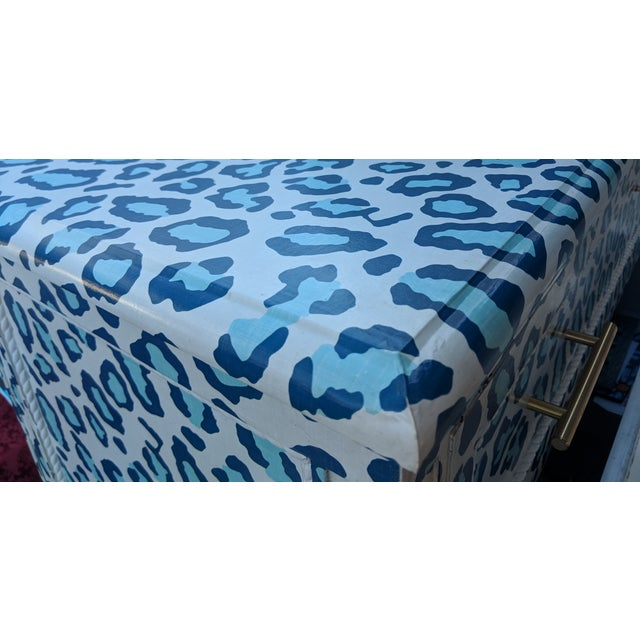 1930s Luxecycled Blue Cheetah Dresser For Sale - Image 5 of 5