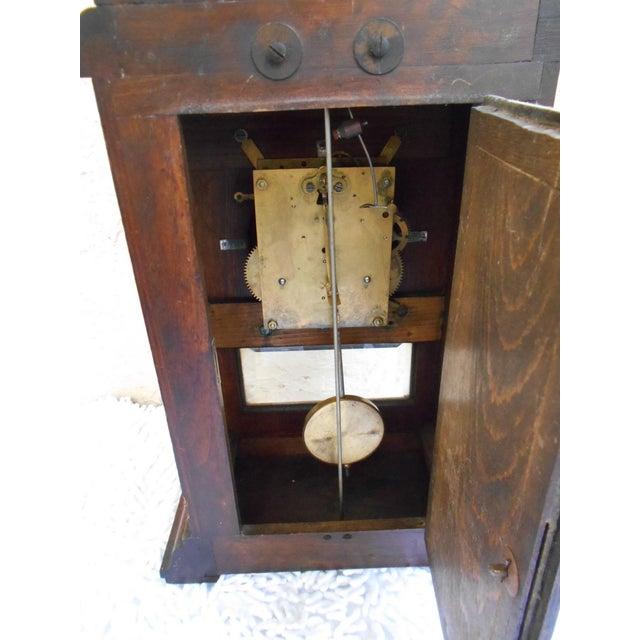 Brown Vintage Mantle Clock For Sale - Image 8 of 10