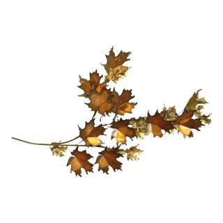 """1971 Curtis Jere """"Maple Leaves"""" Brutalist Metal Wall Art For Sale"""