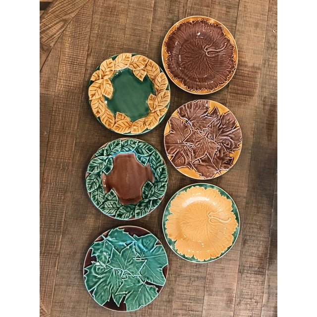 Leaf Style Dessert Plates - Set of 6 For Sale In Washington DC - Image 6 of 6