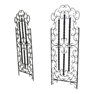 Vintage 1960s European Wrought Iron French Gates For Sale