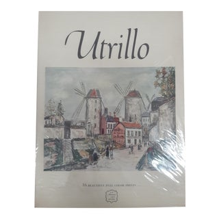Utrillo Art Book by Abrams 12 Prints For Sale
