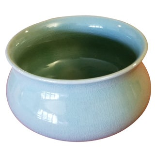 Korean Goryeo Style Celadon Green Glaze Ware by Yu Geun-Hyeong (柳 海剛 1894-1993 For Sale
