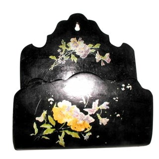 French Papier Mache Letter Holder For Sale