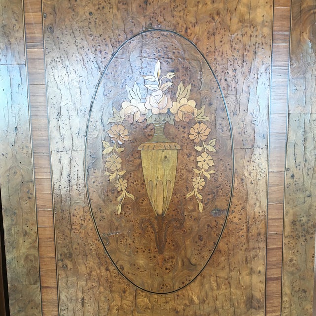 Antique French Burlwood Armoire With Mirror - Image 3 of 10