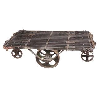 Industrial Metal Factory Cart Coffee Table