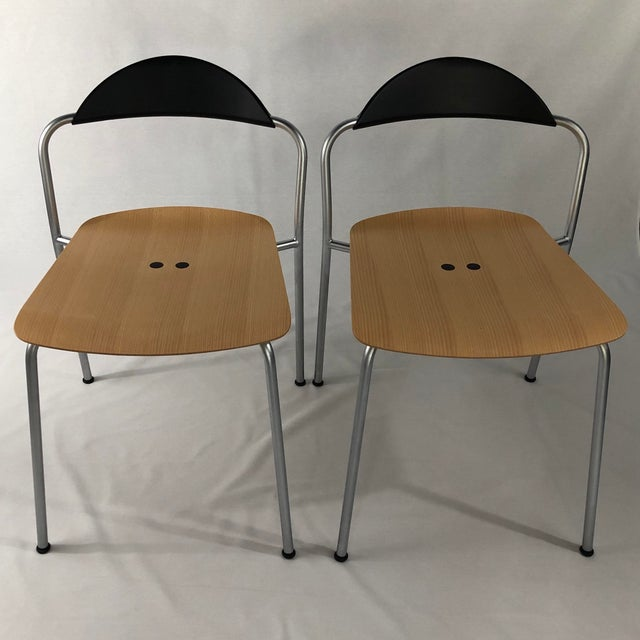 Metal Knoll Vicosolo Chairs - a Pair For Sale - Image 7 of 7