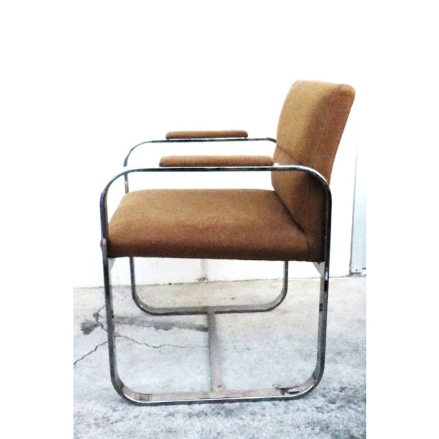 Mid-Century Modern Chrome Chairs - Set of 4 - Image 6 of 7