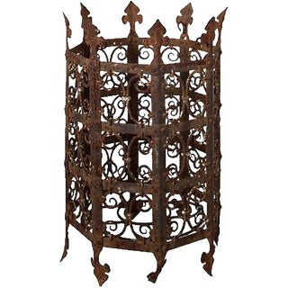 19th Century French Iron Jardiniere For Sale