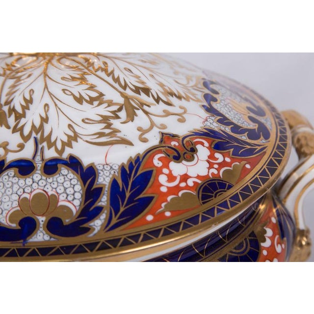 19th Century Crown Derby Circular Tureen For Sale - Image 4 of 7