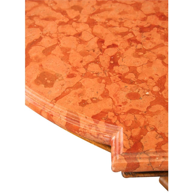 Stone Antique French Marble Top Dining Table For Sale - Image 7 of 8