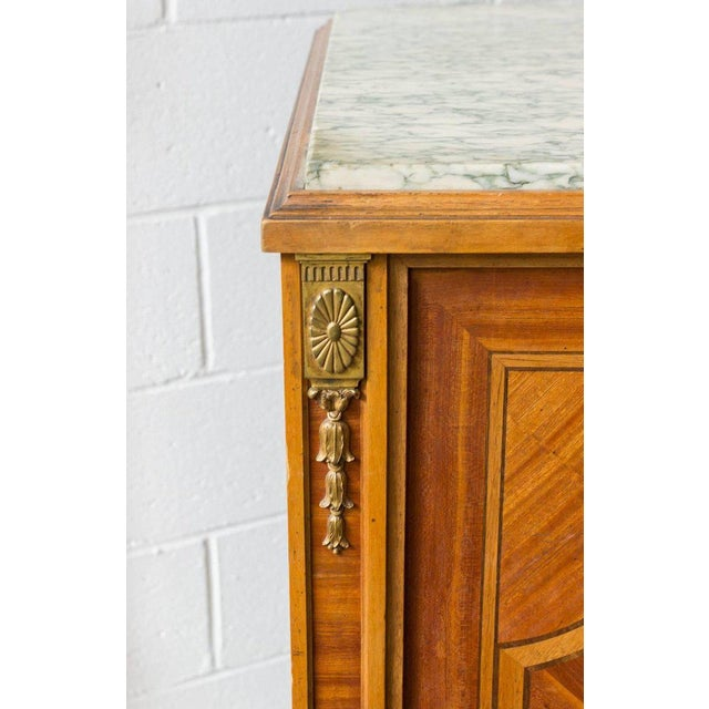 French Cabinet With Marble Top For Sale - Image 4 of 12