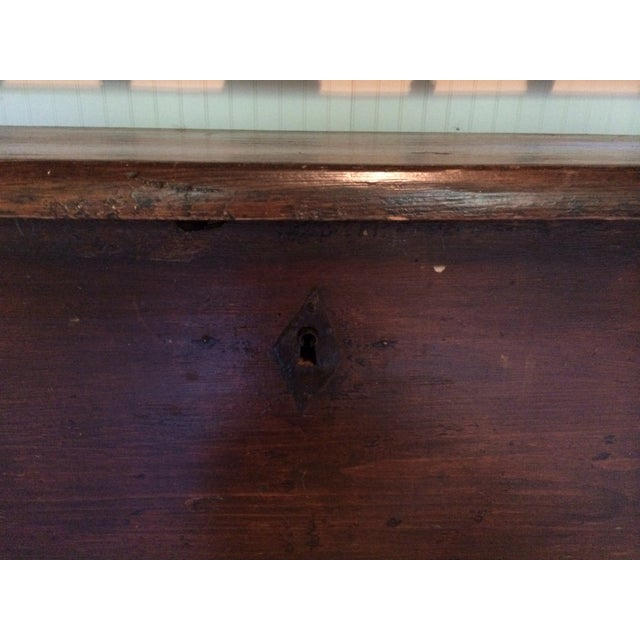Antique European Hall Bench With Storage - Image 5 of 8