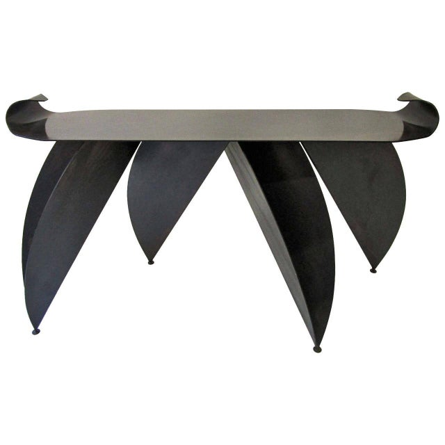 Steel Console Table with Sculptural Legs - Image 1 of 8