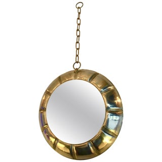 Contemporary Chain Brass Mirror, Italy For Sale