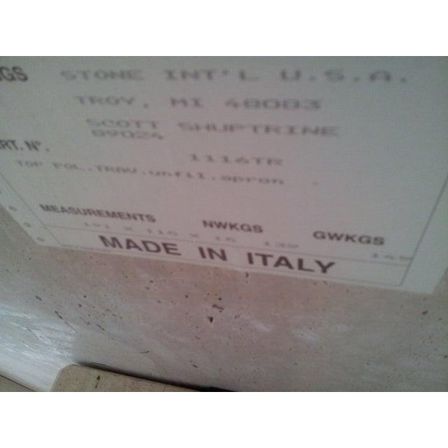 Italian Travertine Console - Image 4 of 4