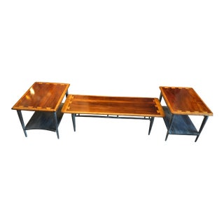 1900s Mid-Century Modern Lane Acclaim Dovetail Coffee and Side Tables - 3 Piece Set For Sale