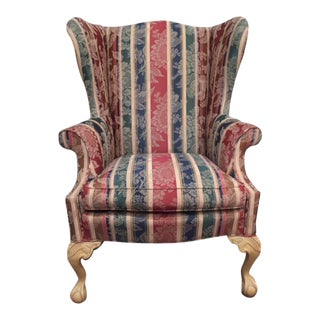 Sherrill Traditional Wingback Chair For Sale