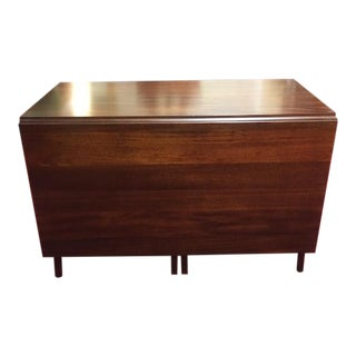 Vintage Craftique Mahogany Drop Leaf Dining Table For Sale
