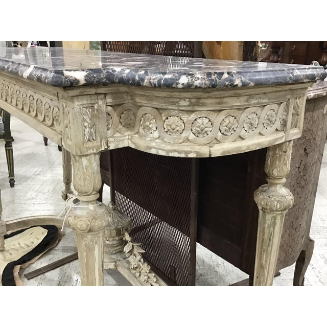 19th Century Louis XVI Style Console Table For Sale In Tampa - Image 6 of 12