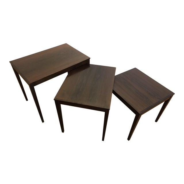 Bent Silberg Rosewood Nesting Tables For Sale