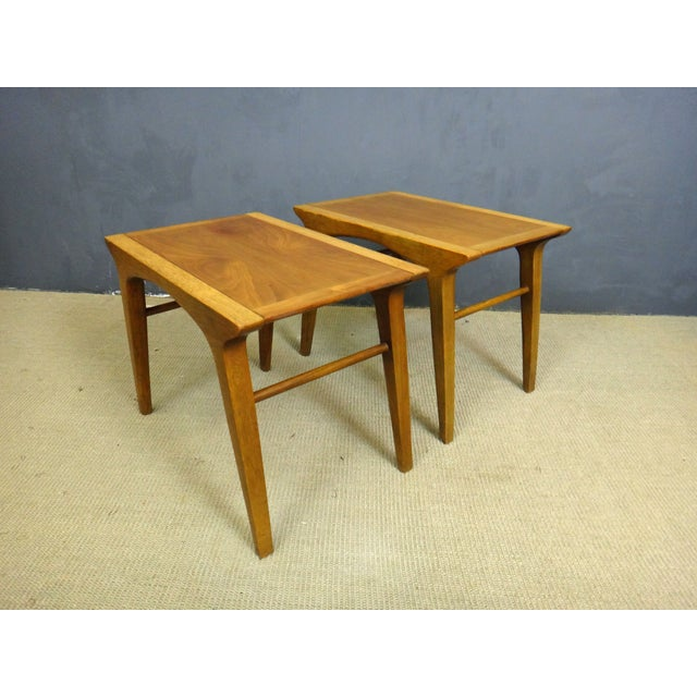 Drexel Profile Walnut Side Tables - A Pair - Image 2 of 6
