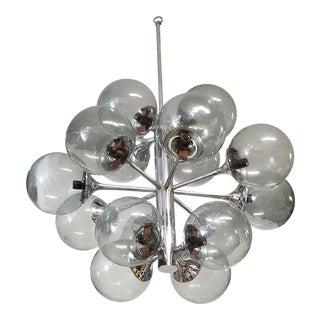 Vintage Lightolier Sputnik Light With 15 Globes For Sale