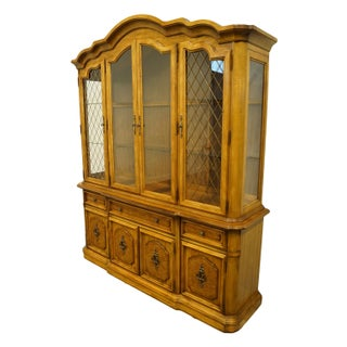20th Century Italian Neoclassical Tuscan Stanley Furniture Illuminated Display China Cabinet Preview