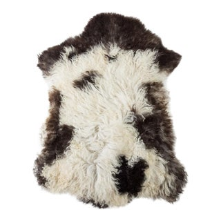 "Contemporary Long Wool Sheepskin Pelt/Handmade Rug - 2'2""x3'0"" For Sale"