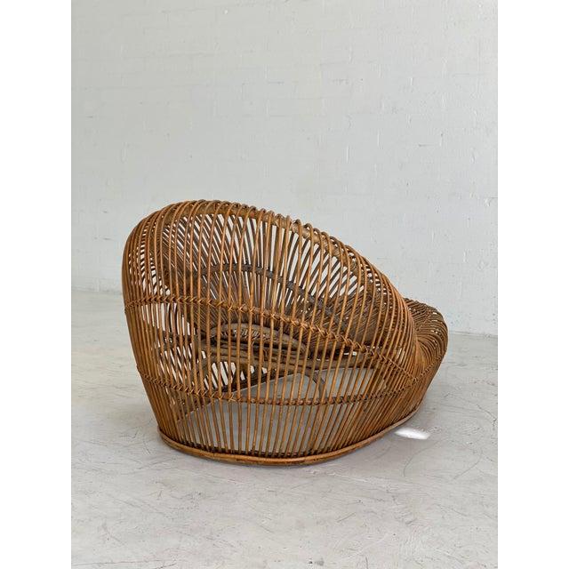 Franco Albini Vintage Franco Albini Bamboo Chaise Lounge For Sale - Image 4 of 6