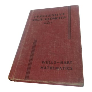 Progressive Solid Geometry Book, 1936 For Sale