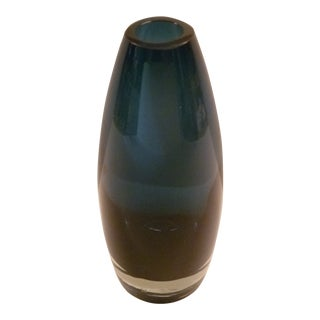 1960s Finnish Modern Heavy Blown Glass Vase by Tamara Aladin for Riihimaki Lasi Oy For Sale