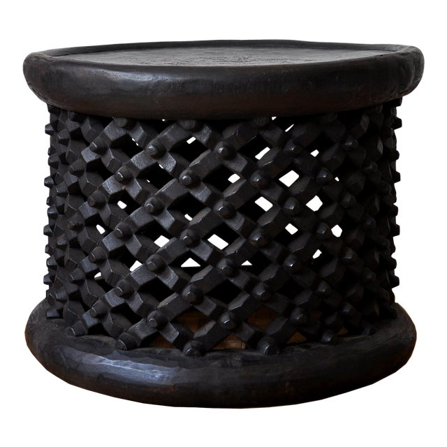 1990s African Carved Bamileke Coffee Table For Sale