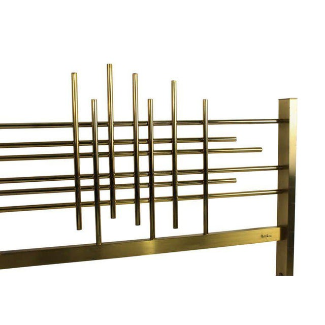 Mid-Century Modern An Italian 60's Modernist Double Bed For Sale - Image 3 of 4