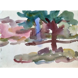 "1950s Vintage Victor DI Gesu ""Carmel Landscape"" Painting For Sale"