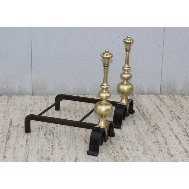 1930s Bronze Andirons For Sale - Image 9 of 13