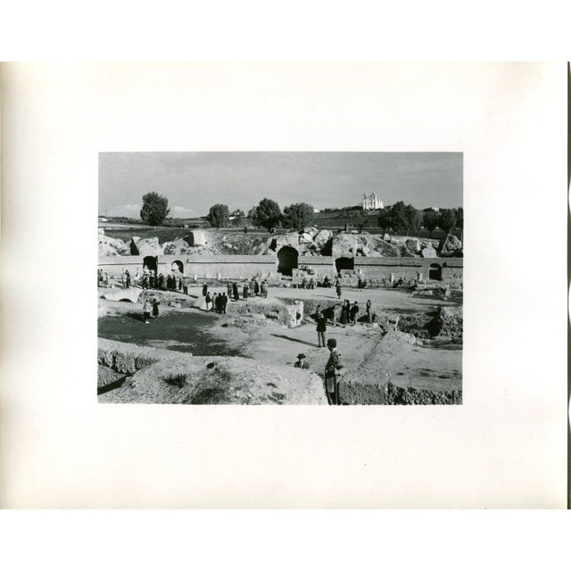 Traditional Vintage 1950's Photograph the Great Amphitheatre at Carthage Tunis, Tunisia For Sale - Image 3 of 3