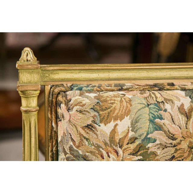 French Louis XVI Style Painted Settee by Jansen For Sale - Image 5 of 7