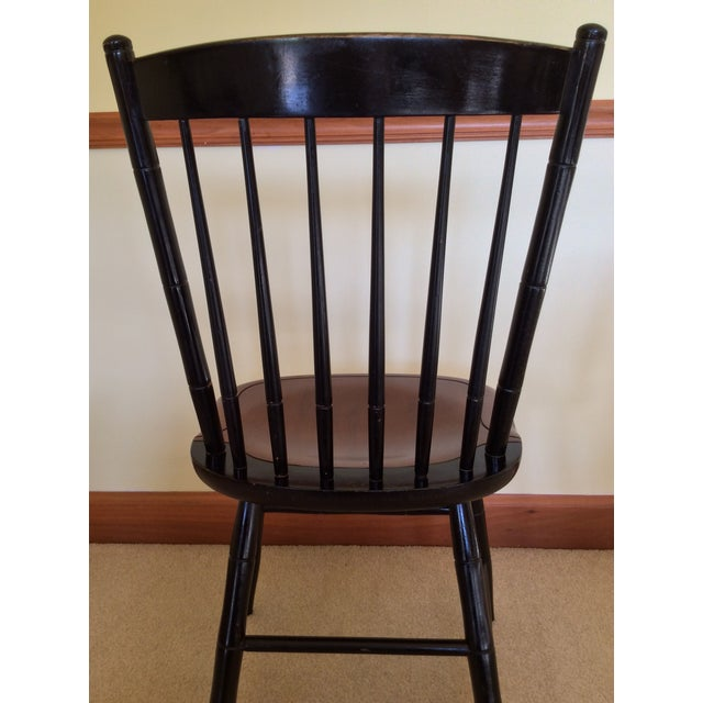 Paint Hitchcock Country Side Chair in Black With Harvest Stained Seat For Sale - Image 7 of 11