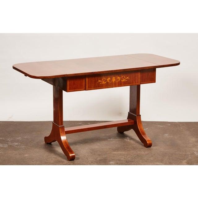19th Century Danish Empire Mahogany Salon Table For Sale In Los Angeles - Image 6 of 11