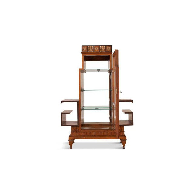 Brown Osvaldo Borsani Art Deco Vitrine For Sale - Image 8 of 13