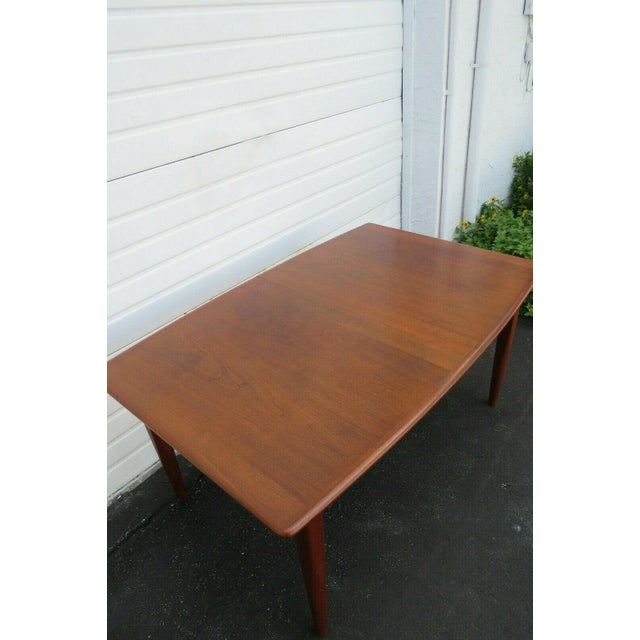 Danish Modern Butterfly Leaf Dining Table Made by Falster For Sale In Miami - Image 6 of 11