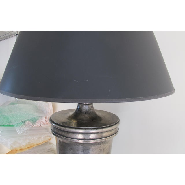 Visual Comfort Classical Urn Form Sheffield Nickel Large Table Lamp - Image 7 of 11