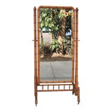 Image of Hollywood Regency Bamboo Floor Mirror For Sale