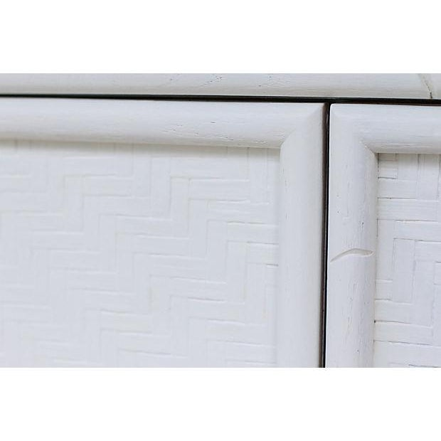 Faux-Bamboo White-Painted Cabinet - Image 6 of 7