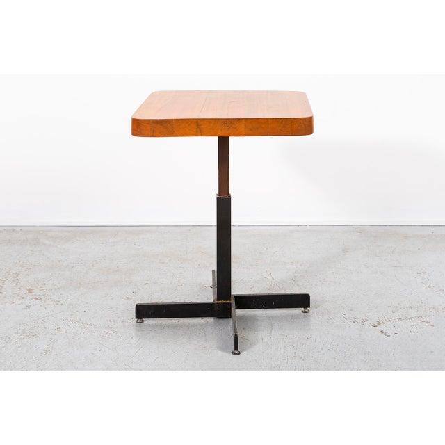 Charlotte Perriand Les Arcs Adjustable Square Table by Charlotte Perriand For Sale - Image 4 of 11