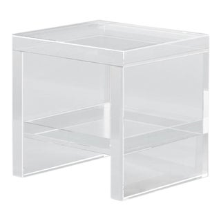 Modern Gallerie Marumo Acrylic Square Side Table For Sale