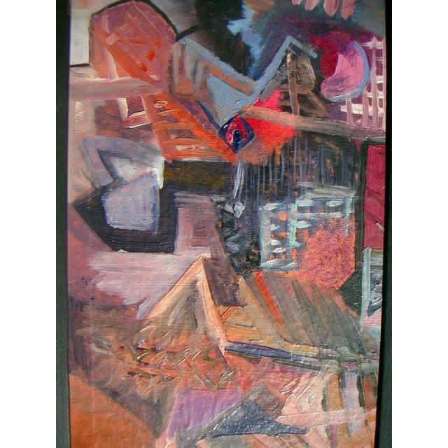 European Cubist Village Painting - Image 4 of 4