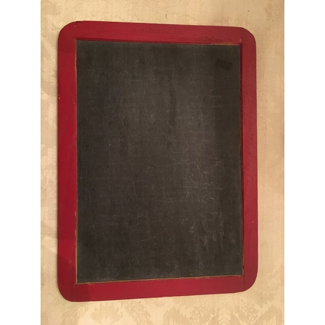 Vintage School House Red Chalk Board - Image 5 of 7