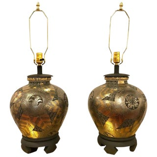 Frederick Cooper Pair of Table Lamps in Ginger Jar Form For Sale